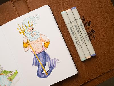 Neptune / Copic Markers illustration sketch markers copics copic neptune
