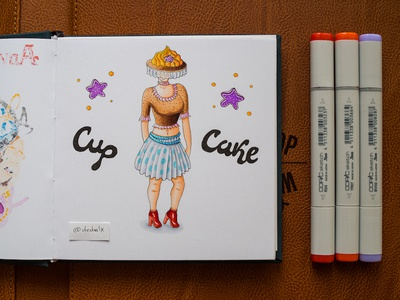 Cupcake Woman / Copic Markers