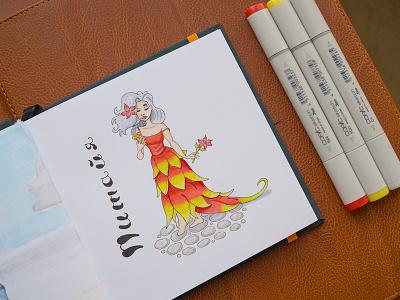 Dragonfruit Illustration / Copic Markers illustration sketch markers copics copic dragonfruit