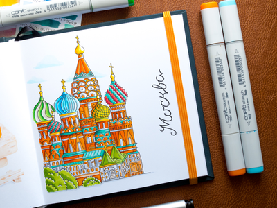 Moscow Illustration / Copic Markers sketch markers illustration moscow copic copics