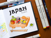 Japan Sushi Illustration / Copic Markers