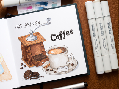 Coffee Illustration / Copic Markers sketch markers illustration food drink coffee copic copics