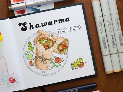 Fast Food Illustration / Copic Markers sketch markers illustration food fastfood copic copics