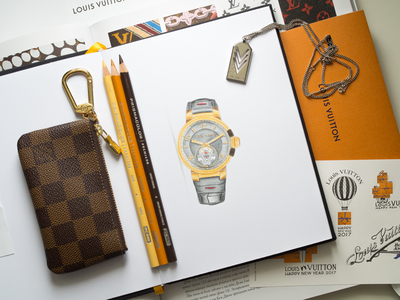 Louis Vuitton Watch Illustration / Touch Markers louisvuitton lv louis vuitton prismacolor pencil watch pencils sketch markers illustration