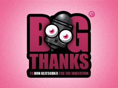 Thanks thanks invitation illustration character vector wacom