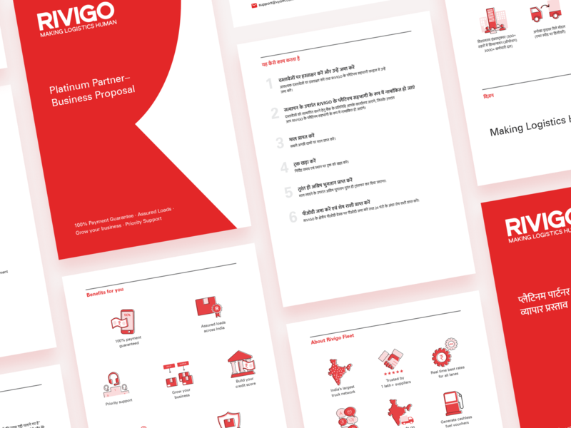 Rivigo - Proposal brochure by Anvesh Dunna on Dribbble