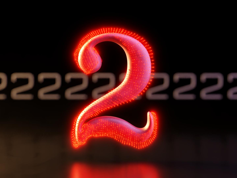 2 - 36DaysofType06 graphic design particular entropy cg particles 36days-2 letters lettering branding render composition type marvel 36daysoftype blender3d 3d blender typography design illustration