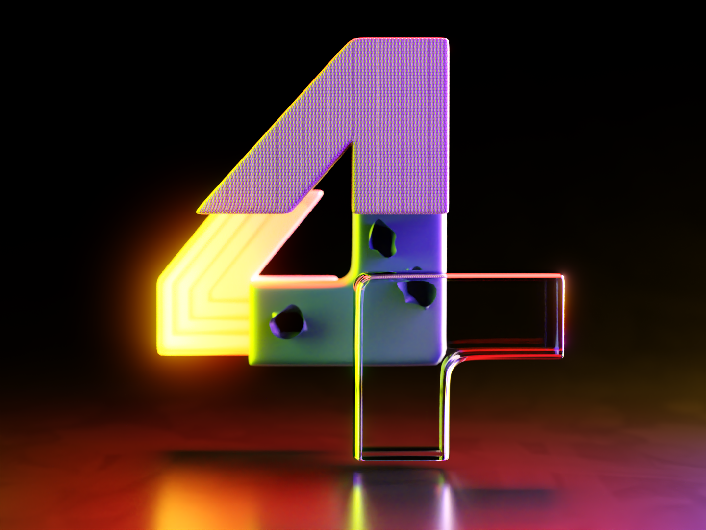 4 - 36DaysofType06 by Anvesh Dunna on Dribbble