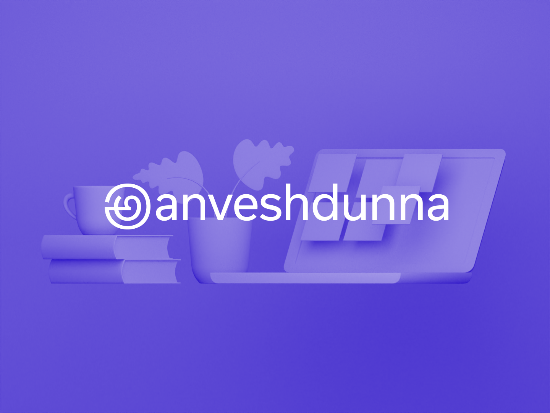 @anveshdunna - Logo design personal branding logotype orthographic custom identity design identity symbol logo design icon ui logo composition branding render type blender3d 3d typography design illustration