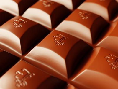 Handlettering branded chocolate