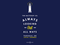 Baitshop Lighthouse Graphic