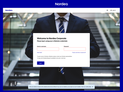 Nordea Corporate Portal business currency exchange trading banking corporate
