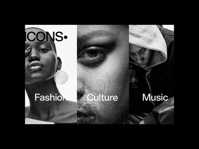 Icons Magazine animation interface interaction concept magazine clean webdesign photography typography transition slider home layout ux website hero ui motion fashion minimal
