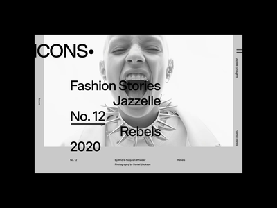 Icons Issue No. 12 fashion minimal grid webdesign website ux ui typography interface interaction concept animation