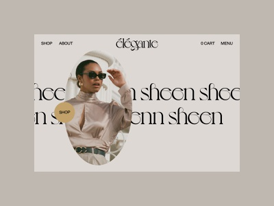 élégante home no.1 shop branding website webdesign ux ui typography scroll photography motion minimal layout interface interaction home hero grid fashion concept animation