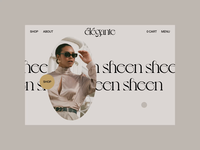 élégante home no.2 shop scroll website webdesign ux ui typography slider photography motion minimal layout interface interaction home grid fashion concept animation