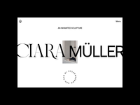 Ciara Müller – Index N°01 website webdesign ux ui portfolio typography photography motion interface interaction home index hero grid architecture folio animation