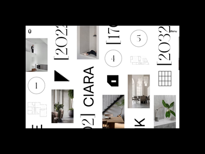 Ciara Müller – Index N°02 - Project branding website webdesign ux ui typography portfolio photography motion interface interaction index hero grid folio fashion animation