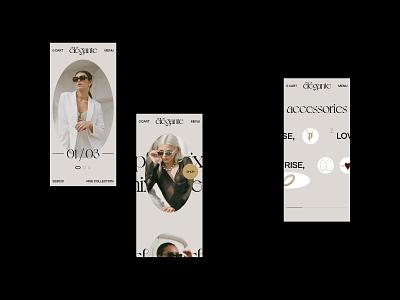 élégante mobile no.1 grid hero minimal clean interaction interface shop ecommerce fashion typography motion website webdesign ui ux mobile design