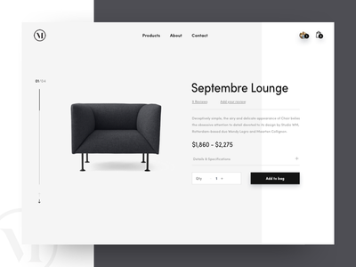 Product Detail Exploration ecomm product detail page furniture website ux ui shopping product photography minimal layout