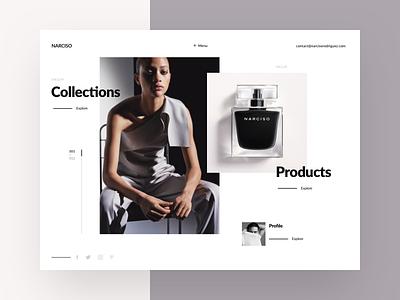 Fashion designer homepage photography home hero slider portfolio product collections designer fashion