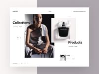 Fashion designer homepage