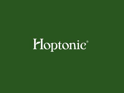 Hoptonic Wordmark cpg hoptonic beverage packaging branding san francisco