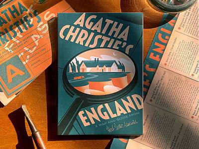 Herb Lester - Agatha Christie's England novel mystery detective guide map typography branding san francisco illustration herb lester