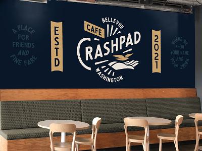 Crashed Cafe Branding pt. 3 restaurant cafe logo typography stout branding illustration