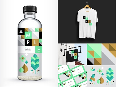 Ample energy meal logo illustration branding packaging