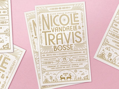 Lil' Bro's wedding invite kansas letterpress invite wedding