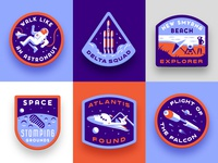 Vacationaut Badges