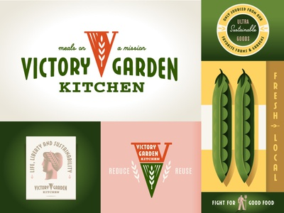 Victory Garden Kitchen sustainability san francisco illustration branding logo