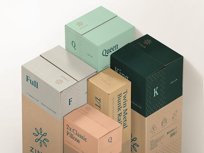 Zinus packaging dribbble