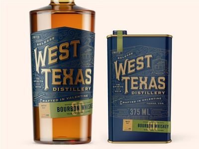 West Texas Distillery packaging west texas distillery whiskey gin spirits stout
