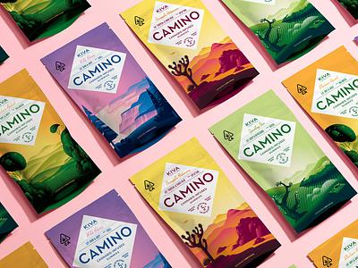 Camino Gummy Packaging california food illustration edibles cannabis branding packaging san francisco stout