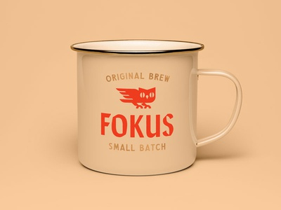 Fokus coffee bean owl san francisco branding logo coffee