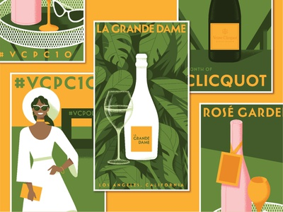 Veuve Clicquot Classic san francisco advertising illustration poster