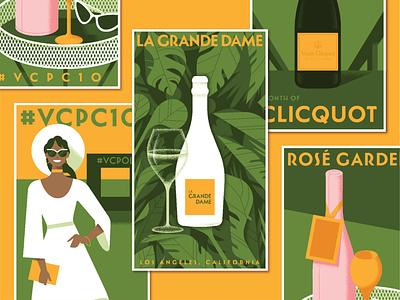 Veuve Clicquot Classic san francisco advertising illustration poster