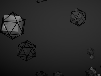 3D // Cube inside atom array dark cinema 4d experience atom array design render 3d