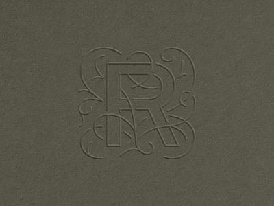 R.I.P. monogram vines fancy r