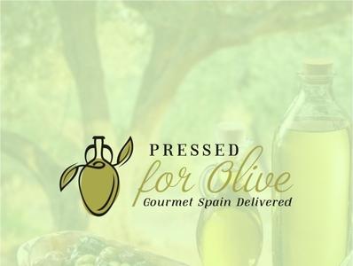 Pressed for olive logo design
