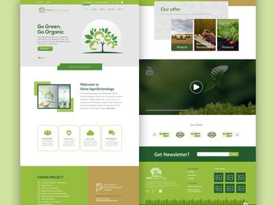 Agro_Firm website design Concept