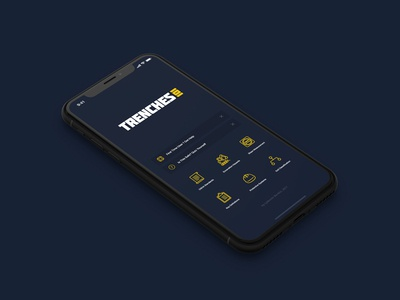 Trenches101 mobile yellow safety blue dark user interface ui iphone app construction