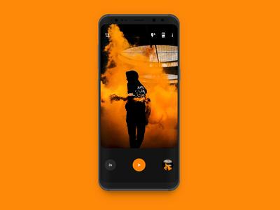Timer Camera App orange simple interface ui selfie design material google android app camera timer