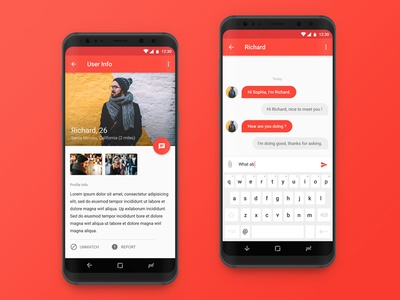 EgoEater (Beeline) Dating App chat dating android s8 material design ui interface google profile user