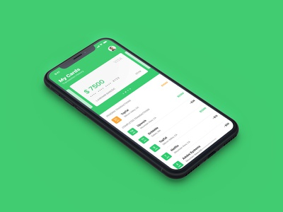 iOS Finance App type ux design green finance ui iphone app money mobile credit transaction