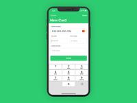 iOS Finance App - Add Card
