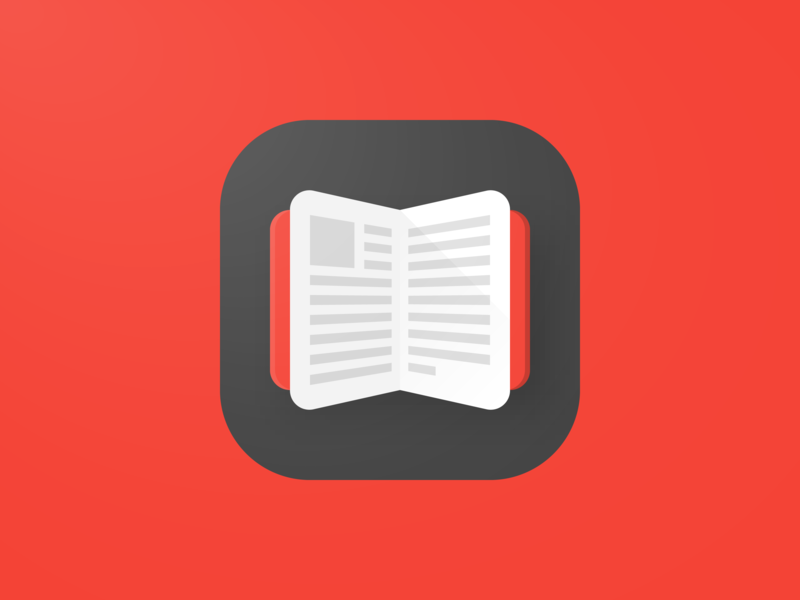 Book App Icon icon design iconography black red store book icon branding vector logo illustration education android google mobile material design app