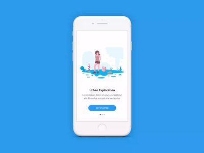 Onboarding Sequence Animation course class tutorial animation design animated animation onboarding vector ios illustration education interface user interface google mobile iphone material design ui app